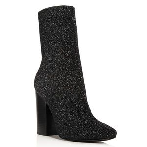 Kendall + Kylie Hailey Sparkle Knit Sock Boots
